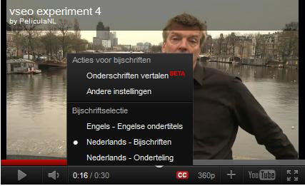 Video SEO op onderschriften en ondertitels youtube