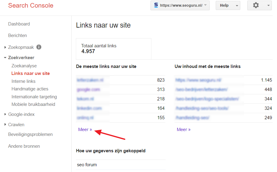 Backlinks Google Search Console