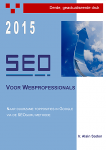 """SEO boek """"SEO voor Webprofessionals"""" 2015"""