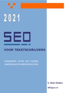 SEO boek cover - seo voor tekstschrijvers - Alain Sadon